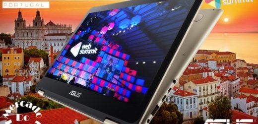 Mercado do Homem no Websummit com o Asus Zenbook Flip UX360