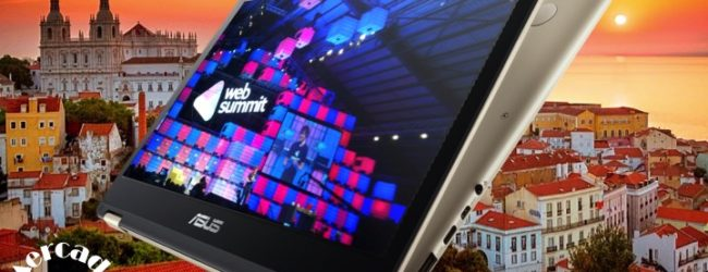 Mercado do Homem no Websummit com o Asus Zenbook Flip UX360
