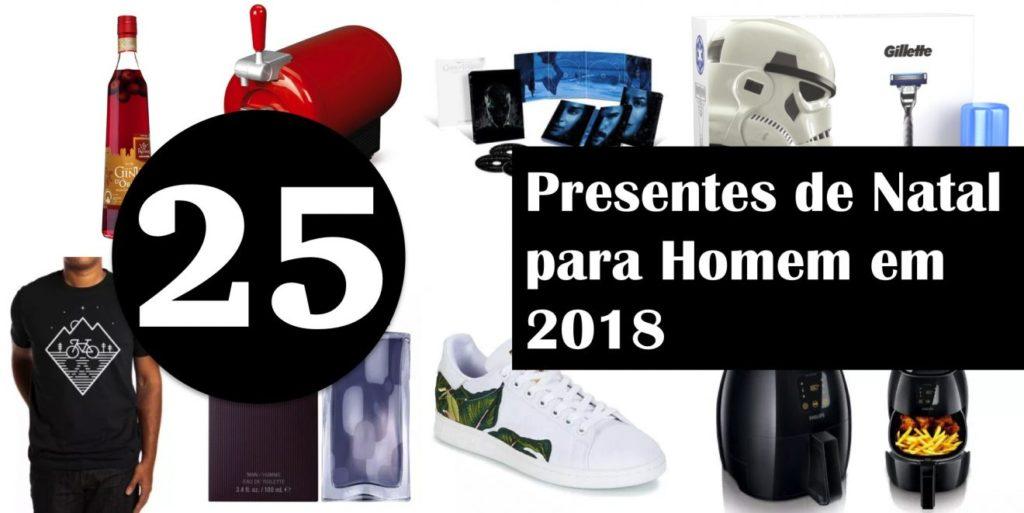 25 Presentes de Natal para Homem em 2018
