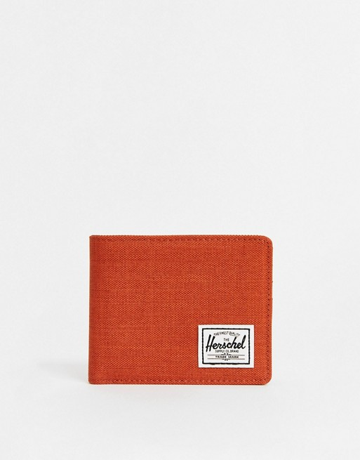 Herschel Supply Co Roy RFID card and coin wallet in rust