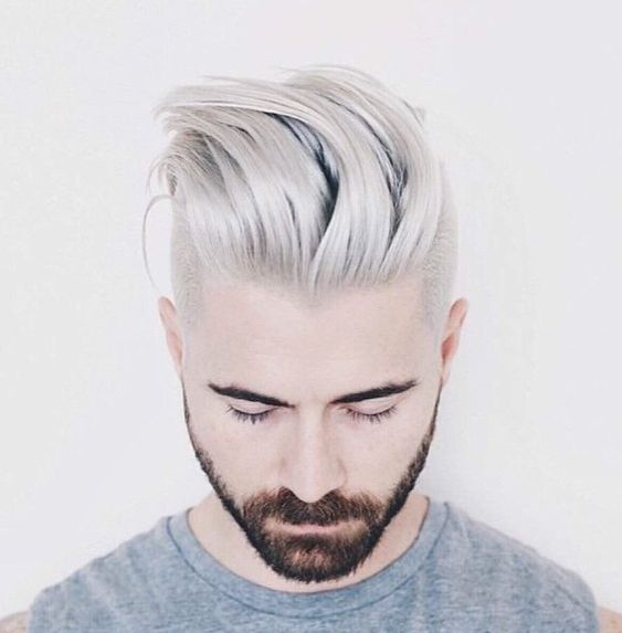 bleaching hair men