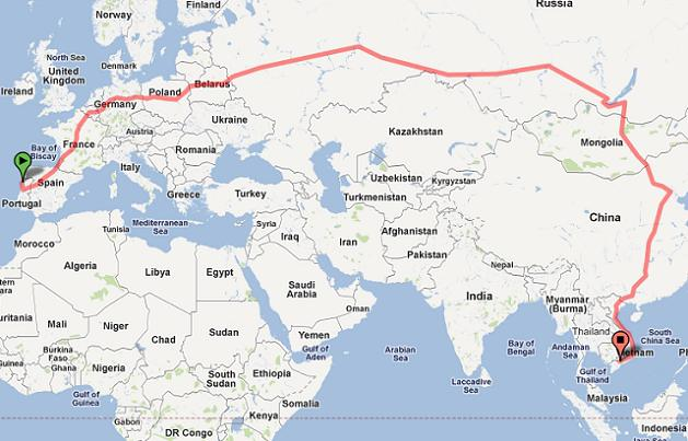 THE LONGEST TRAIN RIDE IN THE WORLD