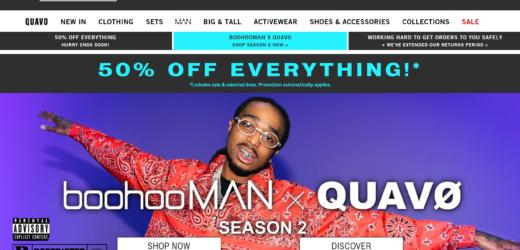BoohooMAN com 50% em tudo!